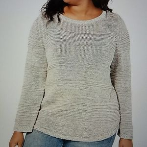 NWT Style and Co confetti loose textured sweater